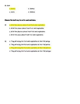 Plural Nouns Ending in ES - Y to I Practice