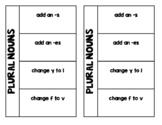 Plural Nouns Foldable and Exit Ticket VA SOL 2.13d