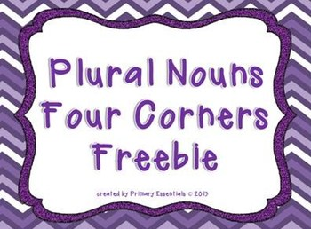 Plural Nouns Four Corners Freebie