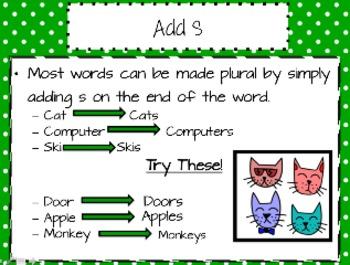 Plural Nouns Freebie PowerPoint