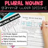 Plural Nouns | Full Week Lesson Plans for Third Grade