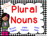 Plural Nouns Graphic Organizers, Anchor Chart Signs, & Flip Book Foldables