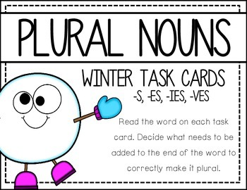 Plural Nouns: Holiday task cards