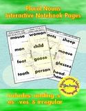 Plural Nouns Interactive Notebook