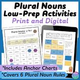 Plural Nouns Interactive Notebook & No Prep Printables