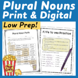 Plural Nouns Interactive Notebook & No Prep Printables
