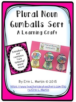 Plural Nouns Learning Craft
