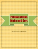 Plural Nouns Make and Sort Worksheet