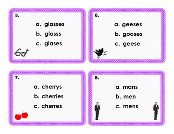 Plural Nouns Mixed Review Scoot Game/ Task Cards