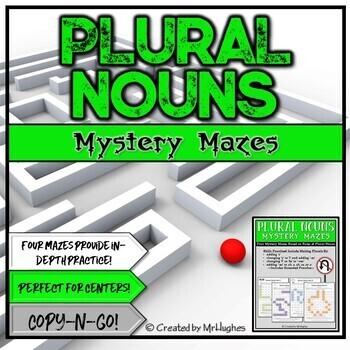 Plural Nouns Mystery Mazes Set 1
