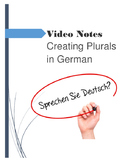 (GERMAN LANGUAGE) Plural Nouns Patterns Video Guide