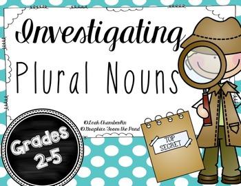 Plural Nouns / Plural Noun Activity or Center Packet