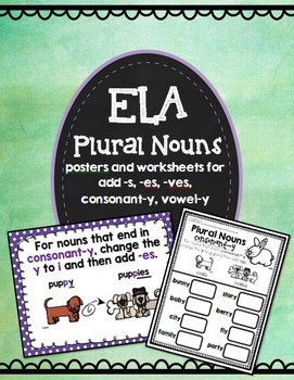 Plural Nouns Posters and Worksheets