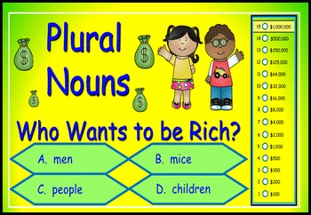 Plural Nouns Power Point Millionaire Game