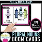 Plural Nouns Practice - Grammar   Boom Cards™ - Distance Learning
