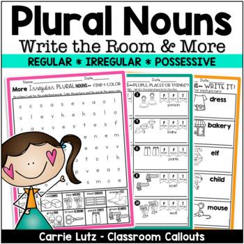 Write the Room Nouns -   Irregular and Possessive