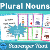 Plural Nouns Scavenger Hunt with extra practice