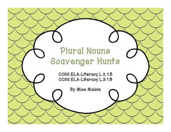 Plural Nouns Scavenger Hunts