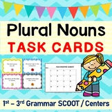 Plural Nouns Grammar SCOOT or Task Cards