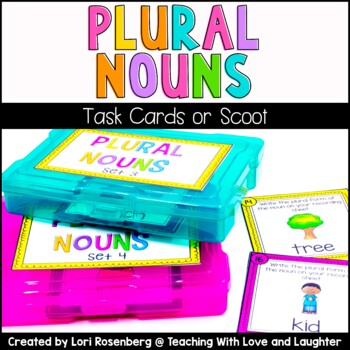 Plural Nouns Task Cards or Scoot