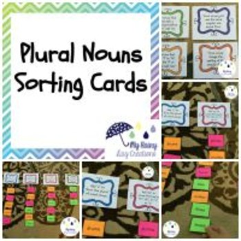 Plural Nouns Activity: Sorting Cards
