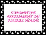 Plural Nouns Summative Assessment