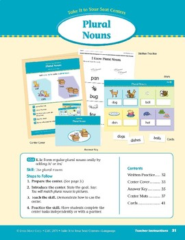 Plural Nouns (Take It to Your Seat Centers: Common Core Language)