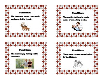 Plural Nouns-Task Cards