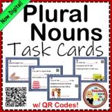 Plural Nouns Task Cards w/ QR Codes