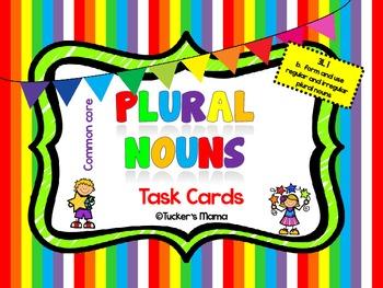 Plural Nouns Task Cards 3rd grade