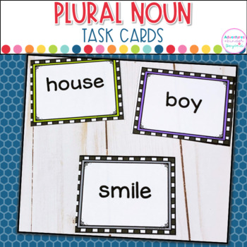 Plural Nouns Task Cards plus Anchor Charts