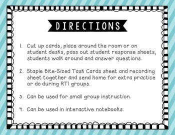 Plural Nouns Tiny Task Cards