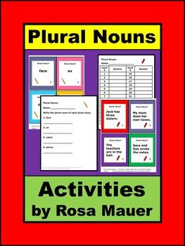 Plural Nouns Task Cards L.2.1B