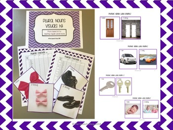Plural Nouns Visuals Pack for Speech and Language Therapy