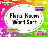 Plural Nouns Word Sort {Differentiated} + Seat work
