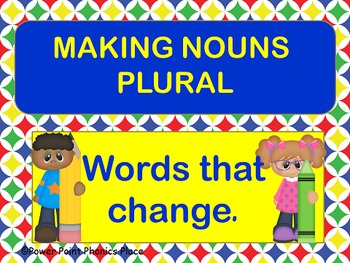 Plural Nouns Words that change spelling