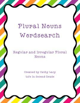 Plural Nouns Wordsearch