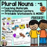 Plural Nouns add s