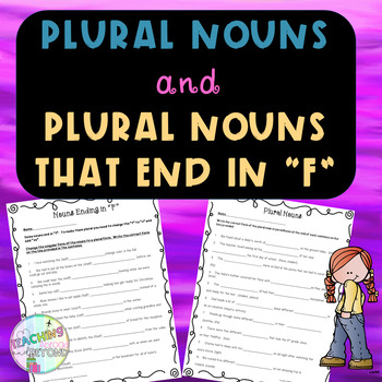 """Plural Nouns and Plural Nouns ending in """"F"""""""