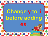 Plural Nouns change y to i add es