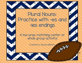 Plural Nouns ending in -es and -ies Matching