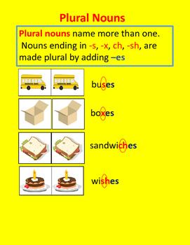 Plural Nouns -es
