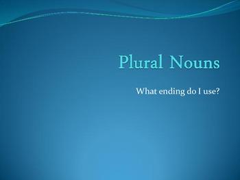 Plural Nouns for Second Grade