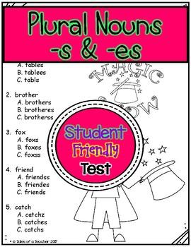 Plural Nouns (-s & -es) Test
