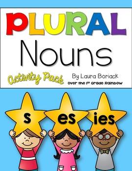 Plural Nouns -s, -es, -ies ~ Activity Pack