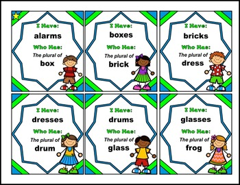 Plural Nouns with Inflectional –s or -es Endings