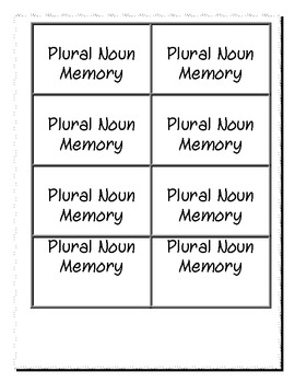 Plural Nouns with -s and -es