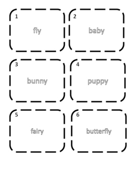 Plural Nouns y-ies Write the Room Activity