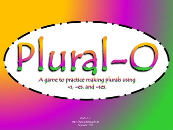 Plural -O Practice Making Plurals with -s, -es, -ies