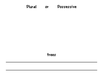 Plural Or Possessive Holiday Booklet